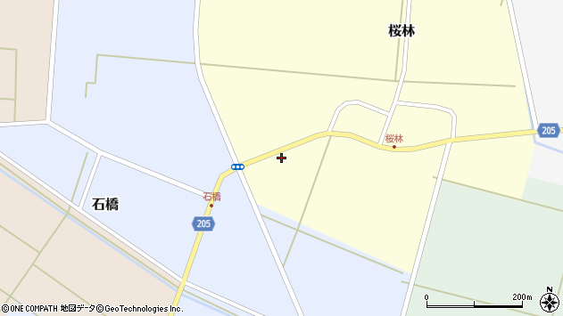 山形県酒田市桜林南田周辺の地図
