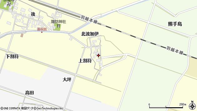 山形県酒田市勝保関上割符25周辺の地図