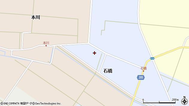 山形県酒田市石橋前田周辺の地図