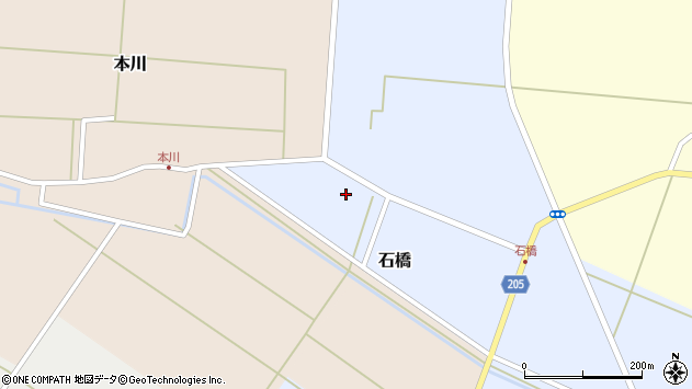 山形県酒田市石橋前田18周辺の地図