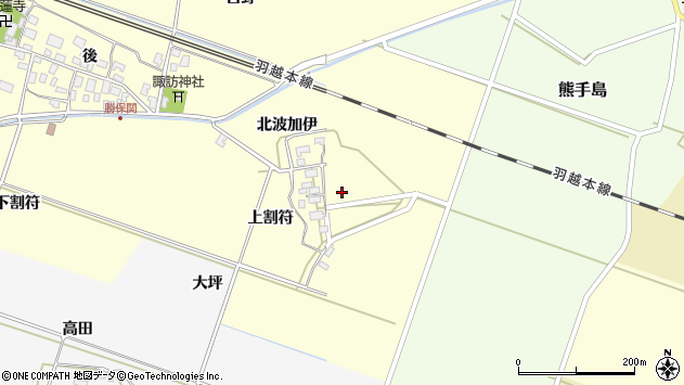 山形県酒田市勝保関北波加伊34周辺の地図