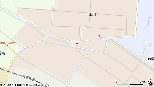 山形県酒田市本川27周辺の地図