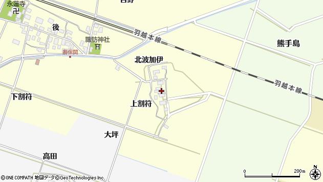 山形県酒田市勝保関上割符26周辺の地図