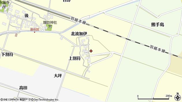 山形県酒田市勝保関北波加伊35周辺の地図
