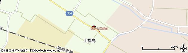 山形県酒田市熊手島上福島周辺の地図
