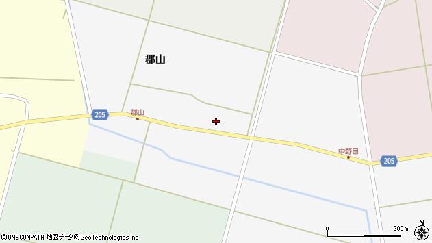 山形県酒田市郡山78周辺の地図