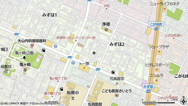 山形県酒田市みずほ周辺の地図