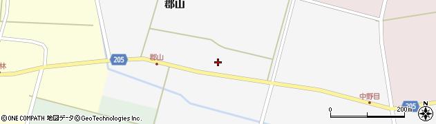 山形県酒田市郡山上台80周辺の地図