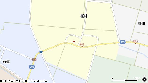 山形県酒田市桜林23周辺の地図