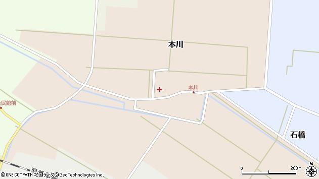 山形県酒田市本川周辺の地図