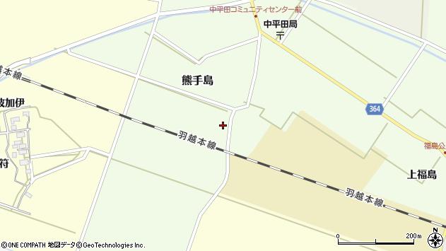 山形県酒田市熊手島熊興屋43周辺の地図