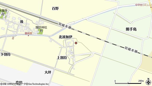 山形県酒田市勝保関北波加伊38周辺の地図