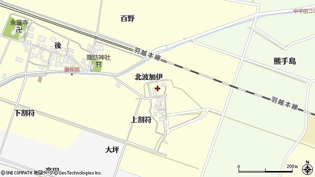 山形県酒田市勝保関北波加伊40周辺の地図