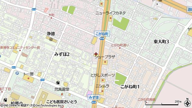 山形県酒田市大町19周辺の地図