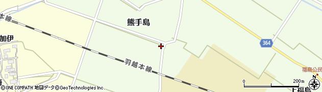 山形県酒田市熊手島熊興屋44周辺の地図