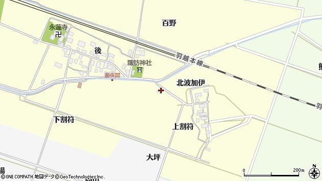 山形県酒田市勝保関上割符37周辺の地図