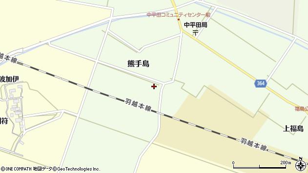 山形県酒田市熊手島熊興屋66周辺の地図