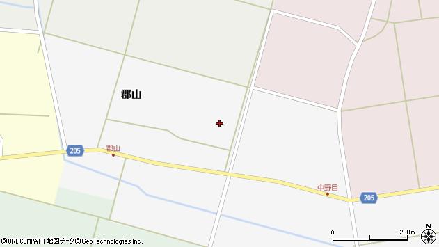 山形県酒田市郡山村北周辺の地図