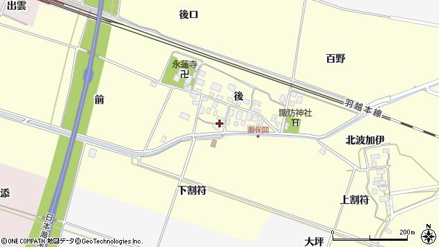 山形県酒田市勝保関前14周辺の地図