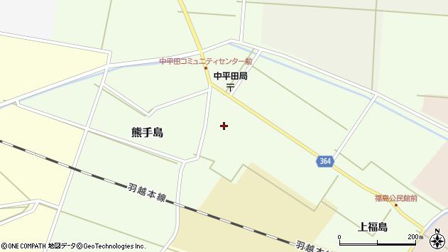 山形県酒田市熊手島手興屋周辺の地図