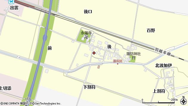 山形県酒田市勝保関前23周辺の地図