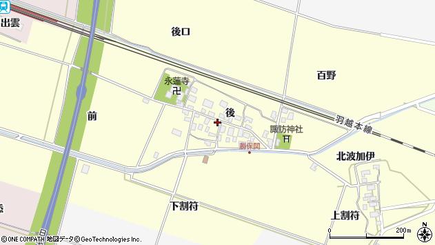 山形県酒田市勝保関前17周辺の地図