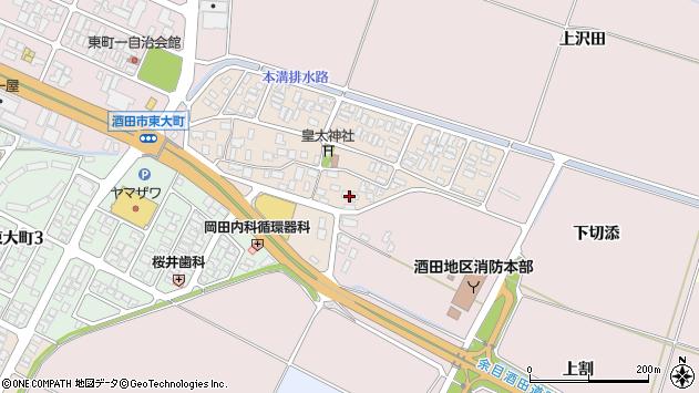 山形県酒田市四ツ興野75周辺の地図