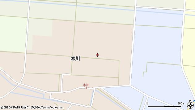 山形県酒田市本川大割周辺の地図