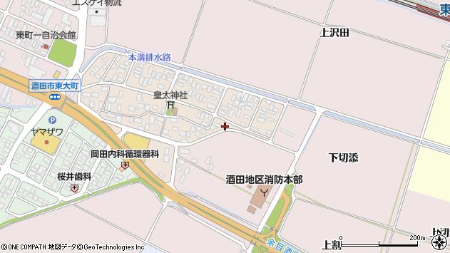 山形県酒田市四ツ興野7周辺の地図