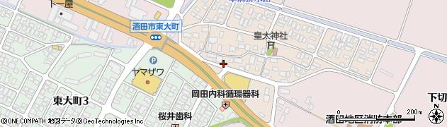 山形県酒田市四ツ興野93周辺の地図