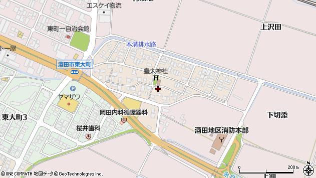 山形県酒田市四ツ興野80周辺の地図
