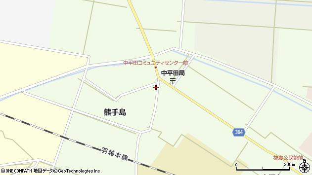 山形県酒田市熊手島熊興屋1周辺の地図