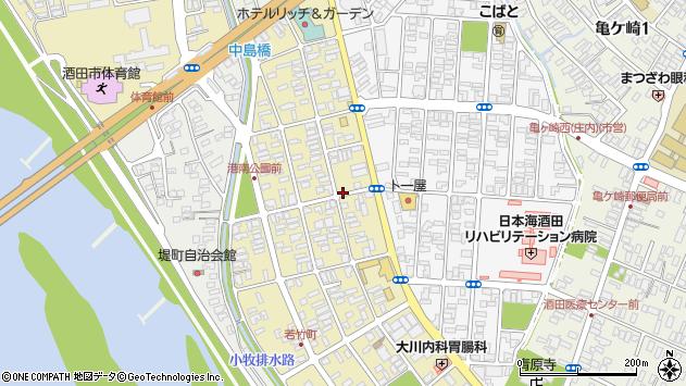 山形県酒田市若竹町周辺の地図