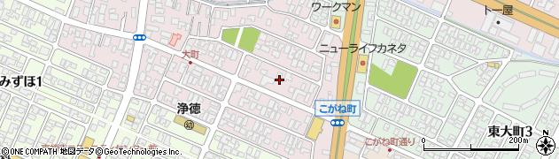 山形県酒田市大町8周辺の地図