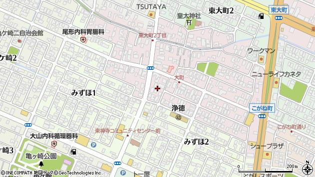 山形県酒田市大町14周辺の地図