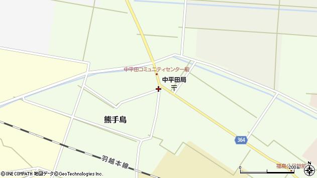 山形県酒田市熊手島下福島周辺の地図