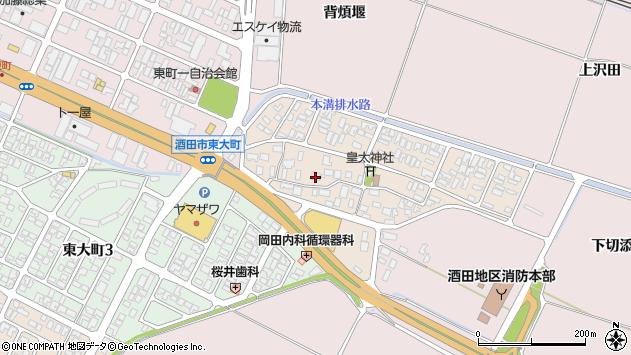山形県酒田市四ツ興野92周辺の地図