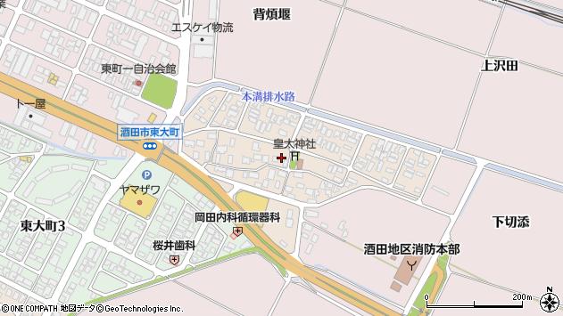 山形県酒田市四ツ興野64周辺の地図