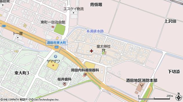 山形県酒田市四ツ興野88周辺の地図