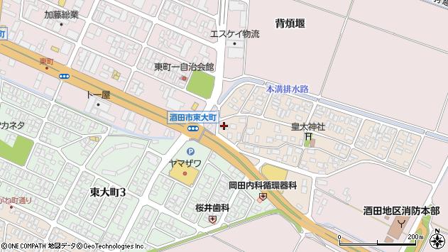 山形県酒田市四ツ興野114周辺の地図