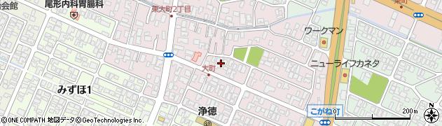 山形県酒田市大町9周辺の地図