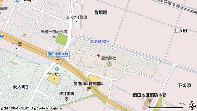 山形県酒田市四ツ興野3周辺の地図