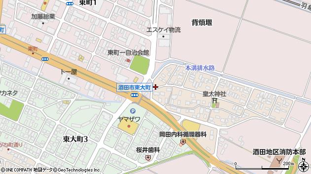 山形県酒田市四ツ興野1周辺の地図