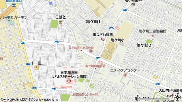 山形県酒田市亀ケ崎周辺の地図