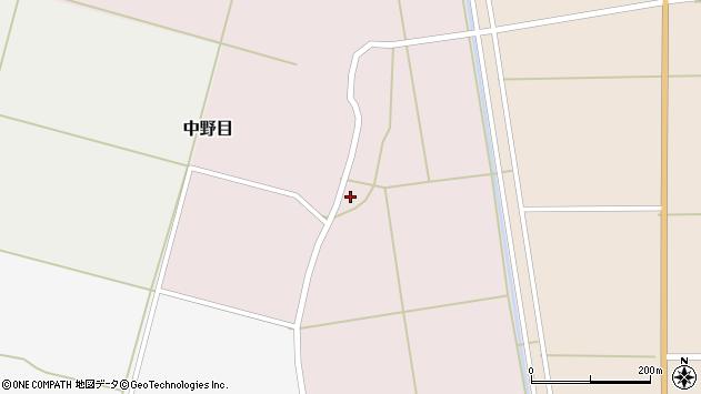 山形県酒田市中野目2周辺の地図