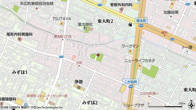 山形県酒田市大町7周辺の地図