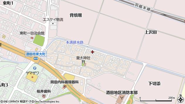 山形県酒田市四ツ興野4周辺の地図