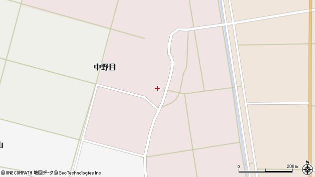 山形県酒田市中野目51周辺の地図
