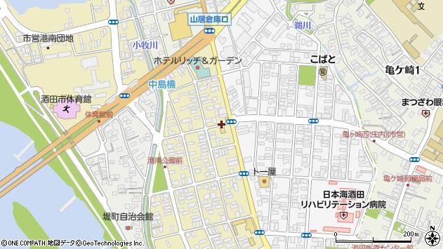 山形県酒田市若竹町1丁目周辺の地図