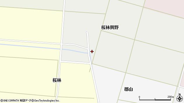 山形県酒田市桜林興野37周辺の地図